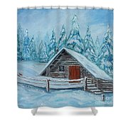 Lost Mountain Cabin Shower Curtain