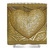 Lost My Golden Heart Shower Curtain