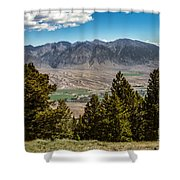 Lost River Mountains Shower Curtain