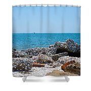 Lost Rock Shower Curtain