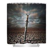 Lost Sword Shower Curtain by Carlos Caetano