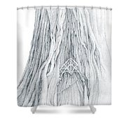 Lothlorien Mallorn Tree Shower Curtain