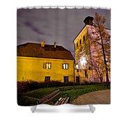 Lotrscak Tower Zagreb Famous Landmark Shower Curtain