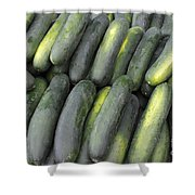 Lots Of Cucumbers For Sale Shower Curtain