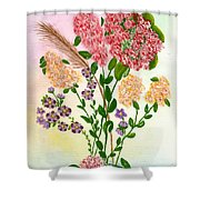 Lots Of Flowers Shower Curtain