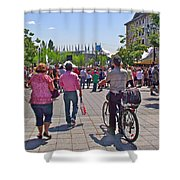 Lots Of People In Old Montreal-qc Shower Curtain