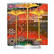 Lotus Explosion Shower Curtain