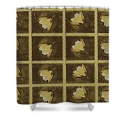 Lotus In 16 Bits Shower Curtain