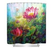 Lotus Light Shower Curtain
