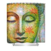 Lotus Meditation Buddha Shower Curtain