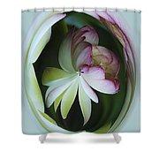 Lotus Mirror Shower Curtain