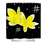 Lotus On Black Shower Curtain