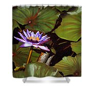 Lotus One Shower Curtain