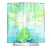 Lotus Petals Awakening Spirit Shower Curtain by Ashleigh Dyan Bayer