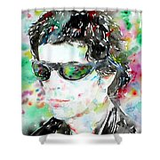 Lou Reed Watercolor Portrait.2 Shower Curtain