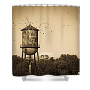 Loudon Water Tower Shower Curtain