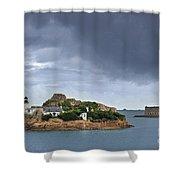 Louet Island 1 Shower Curtain