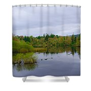 Lough Eske In The Morning Shower Curtain
