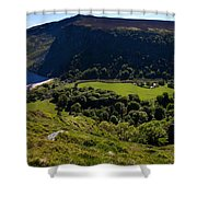 Lough Tay Below Luggala Mountain Shower Curtain