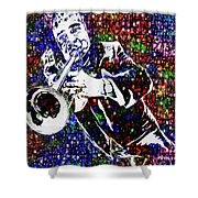 Louie Armstrong Shower Curtain by Jack Zulli
