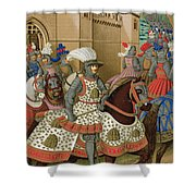 Louis Xii Leaving Alexandria Shower Curtain