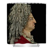 Louis Xiv 1638-1715 1706 Mixed Media Shower Curtain