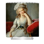 Louise-marie Adelaide, Duchesse Dorleans Oil On Canvas See Also 91622 Shower Curtain