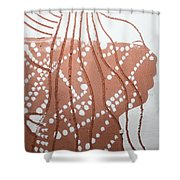 Louise - Tile Shower Curtain