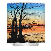 Louisiana Lacassine Nwr Treescape Shower Curtain