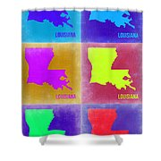 Louisiana Pop Art Map 2 Shower Curtain
