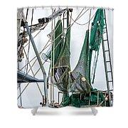 Louisiana Shrimp Boat Nets Shower Curtain