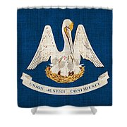 Louisiana State Flag Shower Curtain