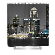 Louisville Lights Up Shower Curtain
