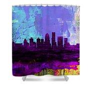 Louisville Watercolor Skyline Shower Curtain