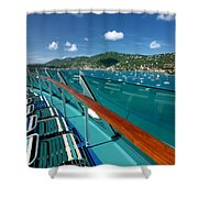 Lounge Chairs On Cruise Ship Shower Curtain
