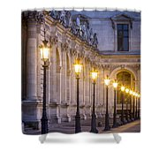 Louvre Lampposts Shower Curtain