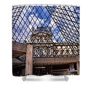 Louvre Museum Paris France Shower Curtain