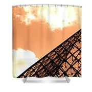 Louvre Pyramid Top Edited Shower Curtain