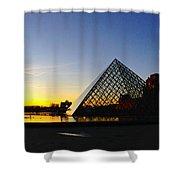Louvre's Last Light Shower Curtain