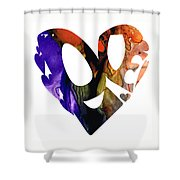 Love 1 - Heart Hearts Romantic Art Shower Curtain