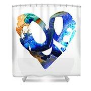 Love 4 - Heart Hearts Romantic Art Shower Curtain