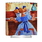Love A Piano 3 Shower Curtain
