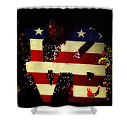 Love American Style Shower Curtain by Bill Cannon