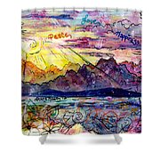 Love And Be Loved Shower Curtain by Shana Rowe Jackson