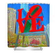 Love And Cherry Blossoms Shower Curtain
