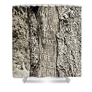 Love And Fate Shower Curtain