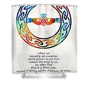 Love And Friendship Art By Sharon Cummings Shower Curtain