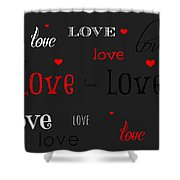 Love And Hearts Shower Curtain