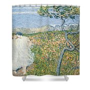 Love At The Fountain Of Life Or Lovers At The Sources Of Life Shower Curtain