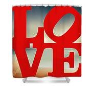 Love Beach Shower Curtain